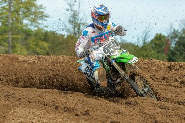 Parker Folkert #959 exits the corner at Martin MX Park