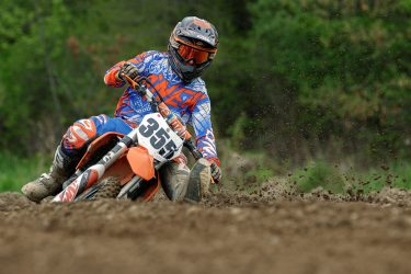 Brody Demull in the ruts at Martin MX