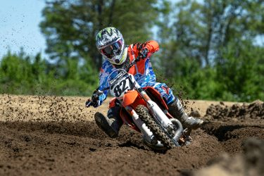 Joey davis #827 hammers through the deep ruts Saturday afternoon at Martin MX Park
