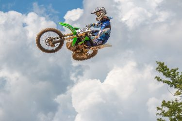 Josh Brooks launches the 130ft triple at Martin MX Park.
