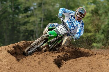 Tyler Morris blasting through the ruts at Martin MX Park