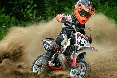 Kieron Besmer riding the the junior track at Martin MX park