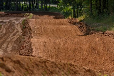 Roller section in the Valley Motocross